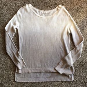 Maurices Gray and White Ombré Pullover Sweater